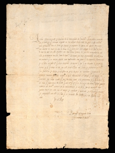 Copy of official letter from King Philip II giving his support towards the foundation of a Regale Collegium Nobilium Hibernorum, regarded as the first and foremost of the Irish Colleges on the Iberian Peninsula. 12 August 1592