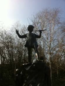 The Boy Who Would Not Grow Up - Kensington Gardens London. Picture courtesy of Yvette Campbell
