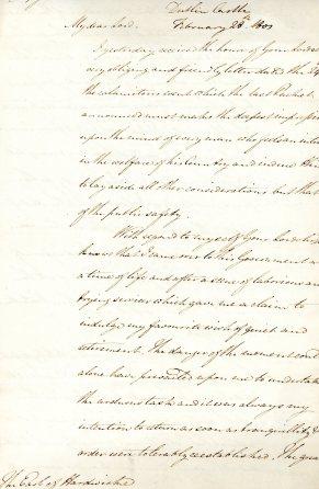Letter to Earl of Hardwicke