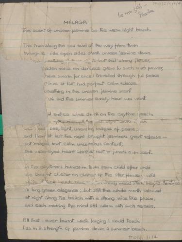 Malaga by Pearse Hutchinson