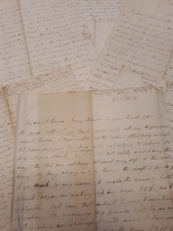 Selection of letters from the collection