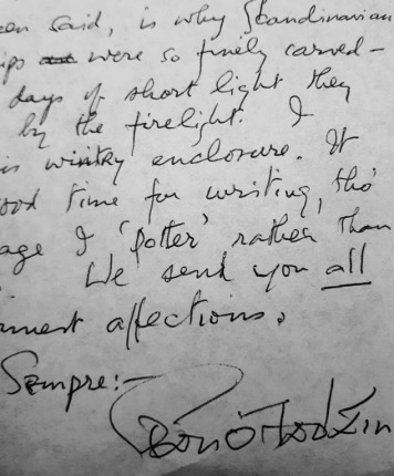 Signature on the letter from Sean O Faolain1