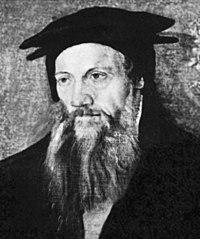 Portrait of Conrad Gessner by Tobias Stimmer, c. 1564